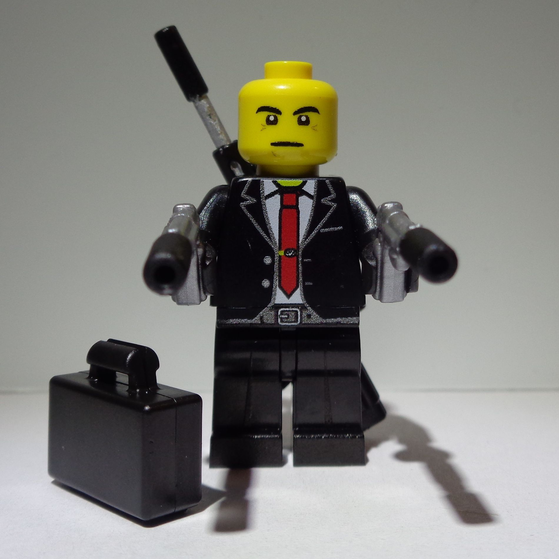 Agent 47 From Hitman As A Lego Minifigure By Pete Anslow